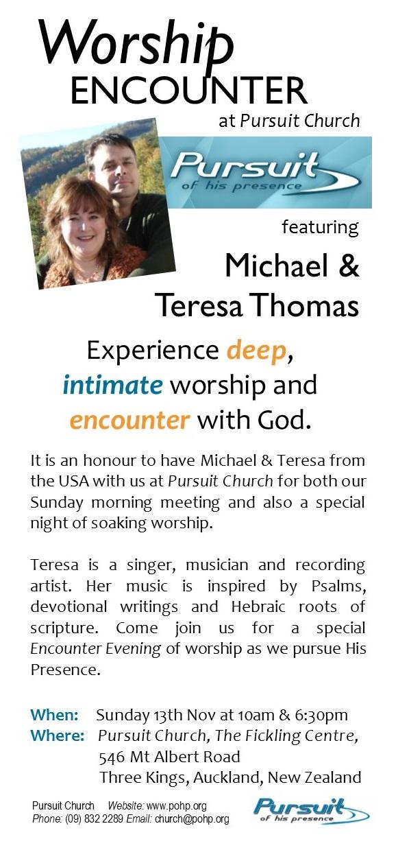 Michael & Teresa Thomas – Sunday Meeting of Worship
